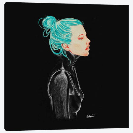 Dark Feelings Canvas Print #LSN11} by Lostanaw Canvas Artwork