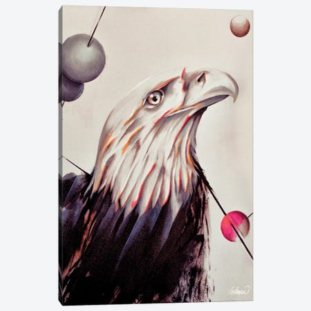 Eagle Force Painting Oil By Lostanaw Canvas Print #LSN12} by Lostanaw Canvas Artwork