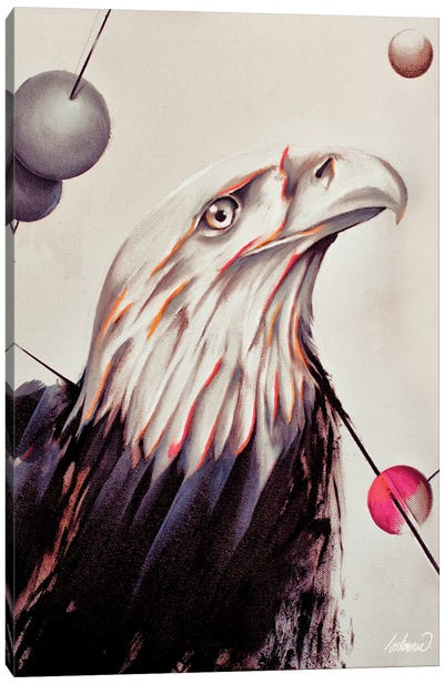 Eagle Force Painting Oil By Lostanaw Canvas Art Print