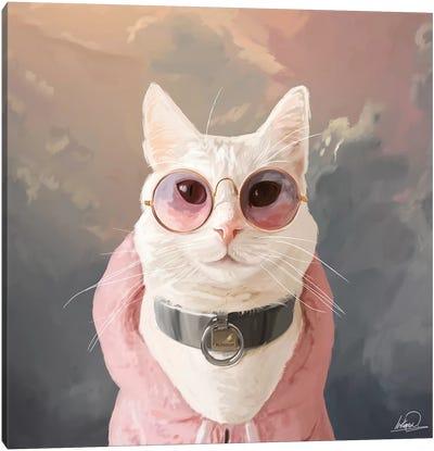Fashion Portrait Cat Canvas Art Print