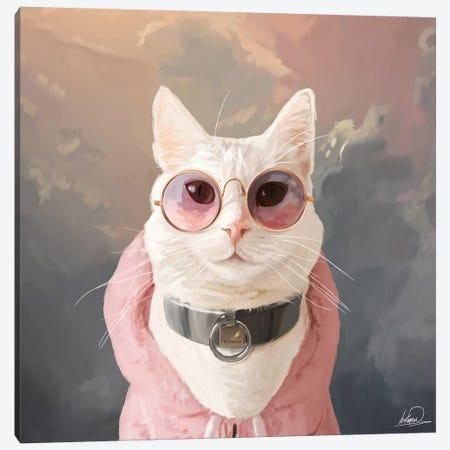 Fashion Portrait Cat Canvas Print #LSN18} by Lostanaw Canvas Artwork