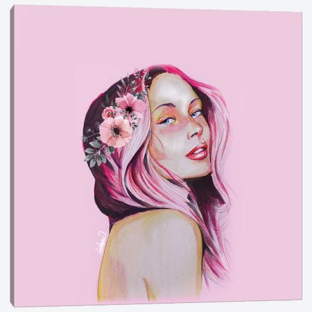 Feeling Girl Portrait Tall Lostanaw Canvas Print #LSN19} by Lostanaw Canvas Artwork