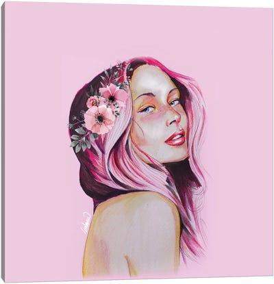 Feeling Girl Portrait Tall Lostanaw Canvas Art Print