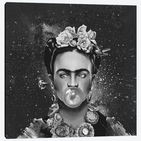 Frida Kalho Abstract Canvas Print #LSN22} by Lostanaw Canvas Print
