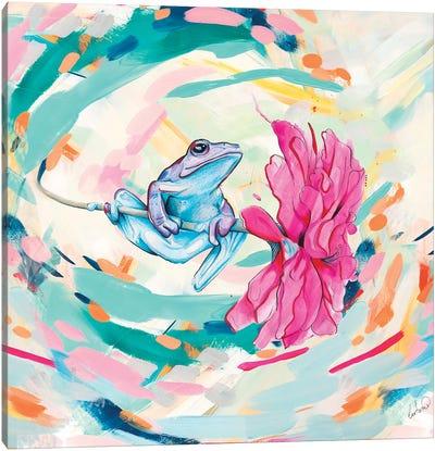 Frog Trip Colors Canvas Art Print