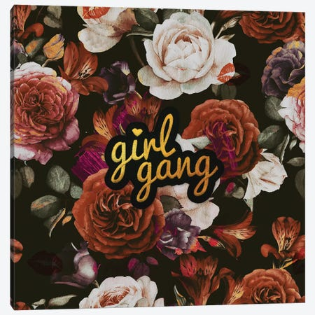 Girl Gang Canvas Print #LSN26} by Lostanaw Canvas Wall Art
