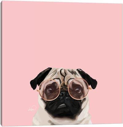 Intellectual Pug Canvas Art Print