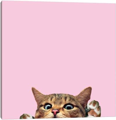 Bye Cat Canvas Art Print