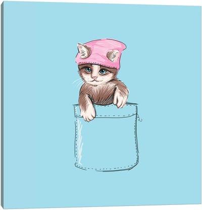 Little Cat In Pocket Canvas Art Print