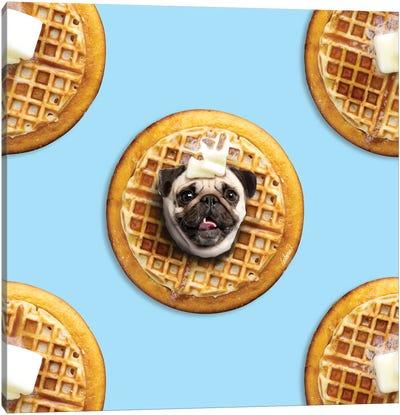 Pug Waffle Canvas Art Print