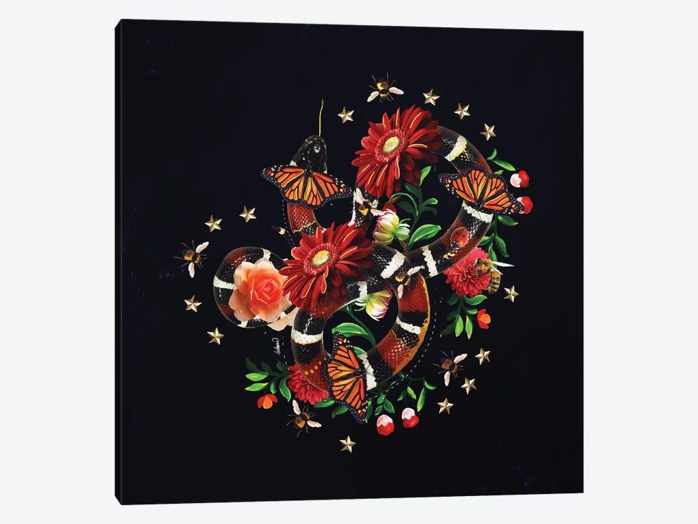 Snake Flowers by Lostanaw 1-piece Canvas Art Print