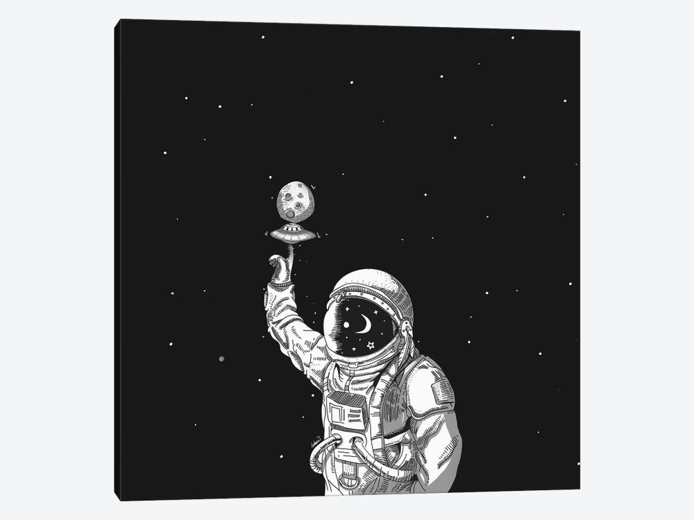 Space Collector by Lostanaw 1-piece Canvas Artwork