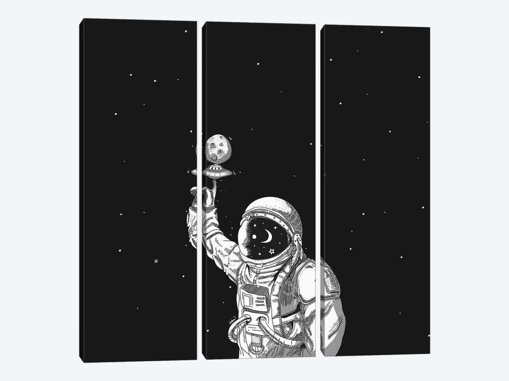 Space Collector by Lostanaw 3-piece Canvas Art