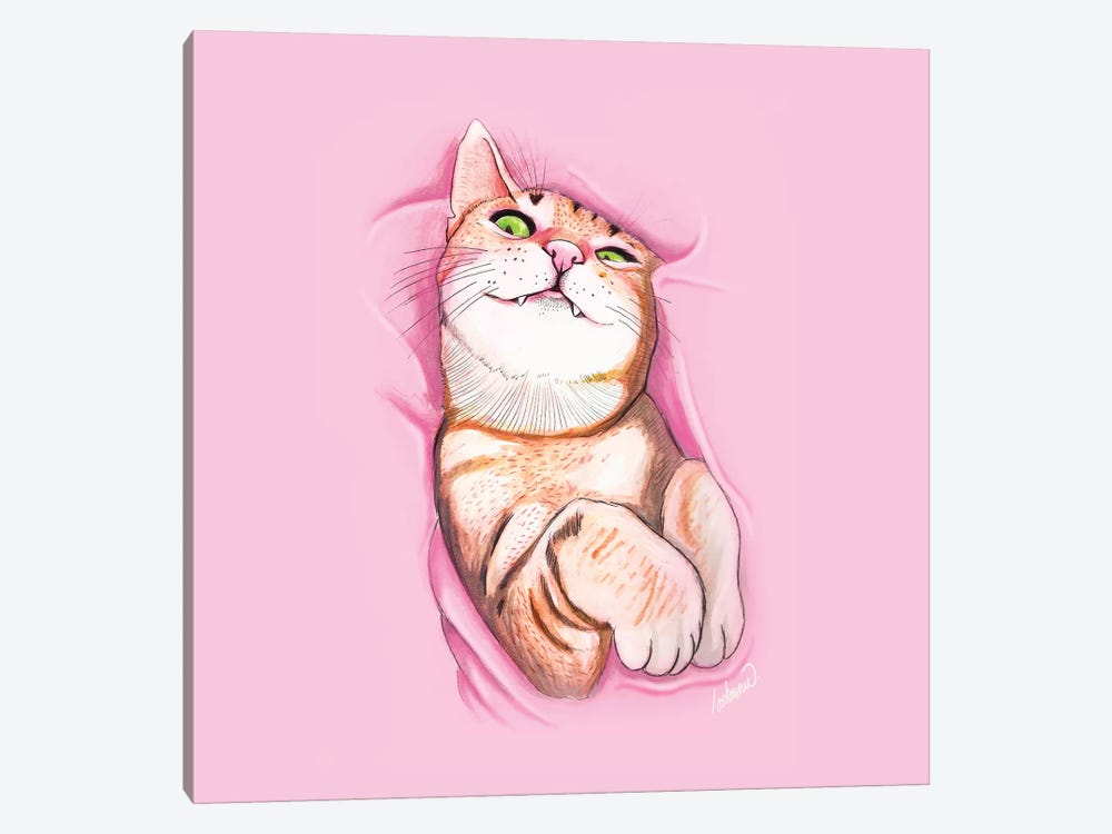 Sweet Kitty by Lostanaw 1-piece Canvas Art Print