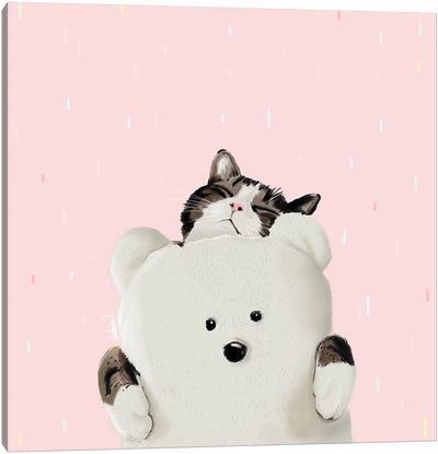 Cat Hug Me Canvas Art Print
