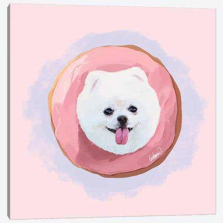 Pomeranian Strawberry Donut Canvas Print #LSN63} by Lostanaw Canvas Art Print