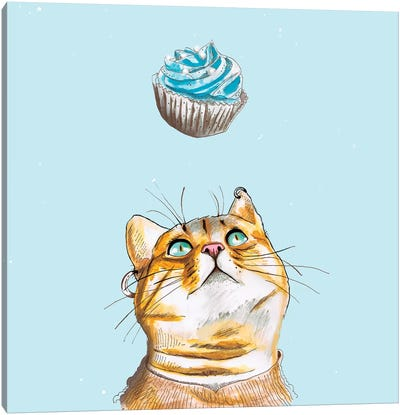 Cat Lover Cake Canvas Art Print