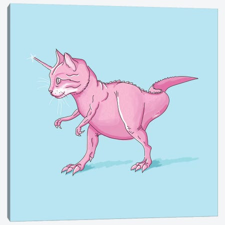 Caticorn Rex Canvas Print #LSN7} by Lostanaw Canvas Print