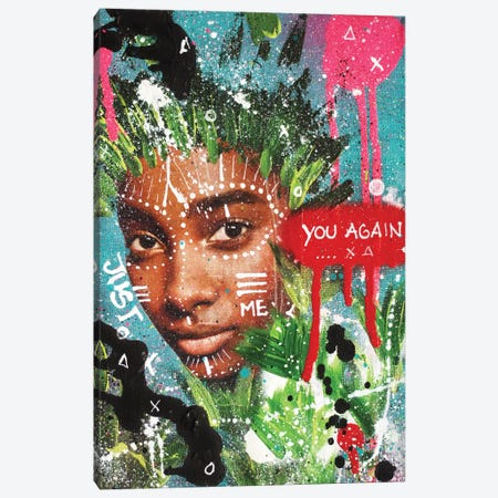 "You Again ""Queens Of The Concrete Jungle"" Canvas Print #LSO18} by Sr. LaSso Canvas Art Print"