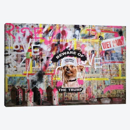 Beware Of The Trump Canvas Print #LSO3} by Sr. LaSso Canvas Print