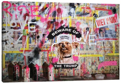 Beware Of The Trump Canvas Art Print