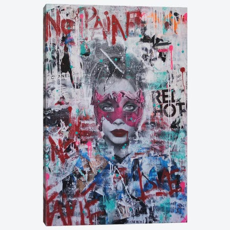 No Pain, No Fame (Cara) Canvas Print #LSO9} by Sr. LaSso Canvas Print