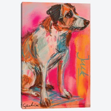 Jack Russell Terrier Canvas Print #LSR11} by Liesbeth Serlie Canvas Art