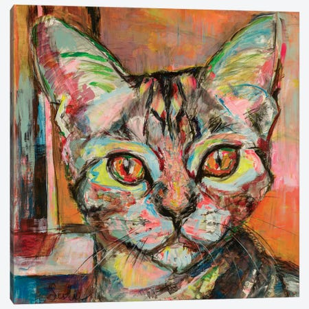 Cat Love 3-Piece Canvas #LSR13} by Liesbeth Serlie Canvas Wall Art