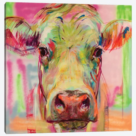 Cow Portrait XIII Canvas Print #LSR15} by Liesbeth Serlie Canvas Art Print