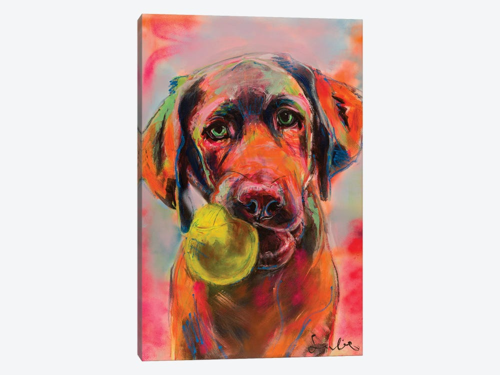 Labrador Portrait by Liesbeth Serlie 1-piece Canvas Art