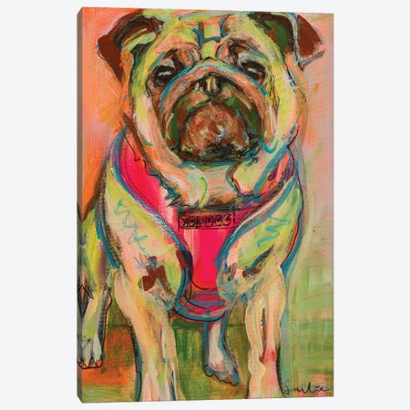 Pug Canvas Print #LSR18} by Liesbeth Serlie Canvas Art
