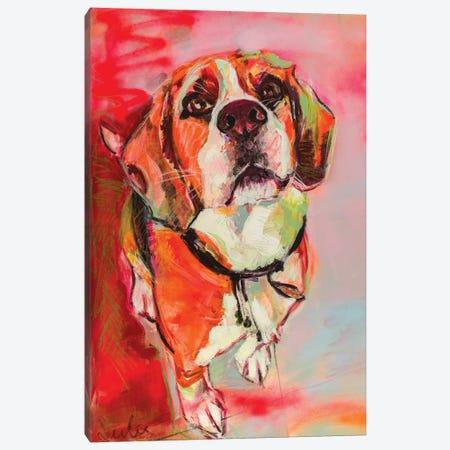 Beagle 3-Piece Canvas #LSR1} by Liesbeth Serlie Canvas Art Print