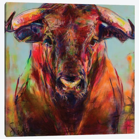 Bull Canvas Print #LSR22} by Liesbeth Serlie Art Print