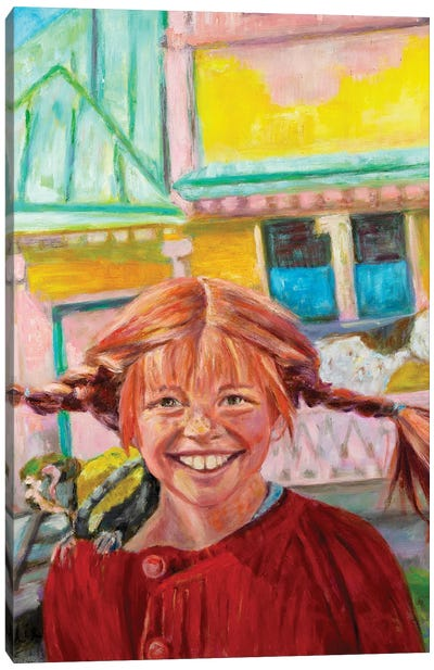 Pipi Langkous Canvas Art Print