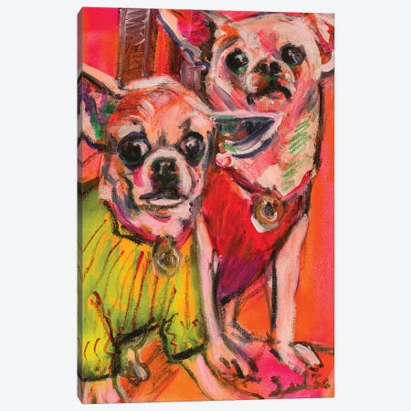Chihuahuas Canvas Print #LSR5} by Liesbeth Serlie Canvas Artwork