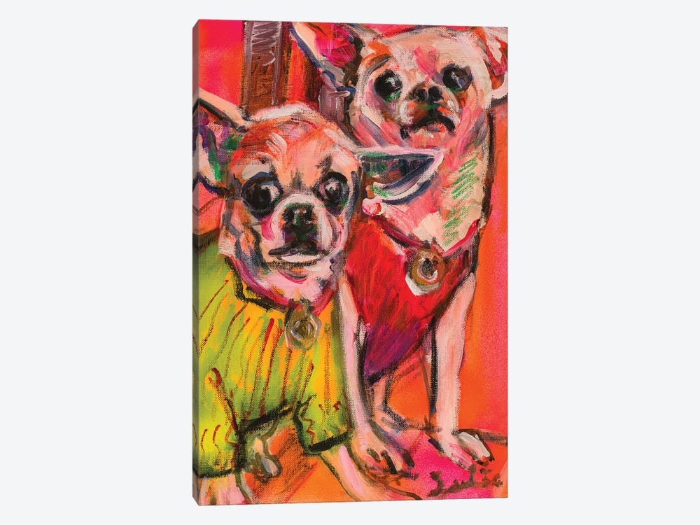 Chihuahuas by Liesbeth Serlie 1-piece Canvas Art