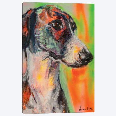 Galgo Portrait 3-Piece Canvas #LSR7} by Liesbeth Serlie Canvas Artwork