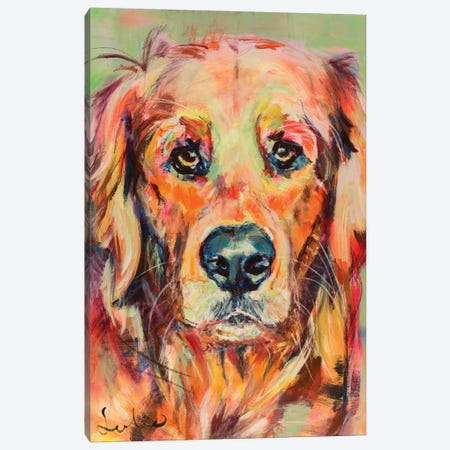 Golden Retriever Portrait Canvas Print #LSR8} by Liesbeth Serlie Canvas Print