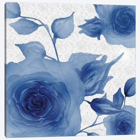 Blue Rose I Canvas Print #LSS1} by Lorraine Rossi Canvas Art
