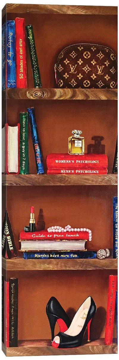 Bookshelf Bestsellers Canvas Art Print