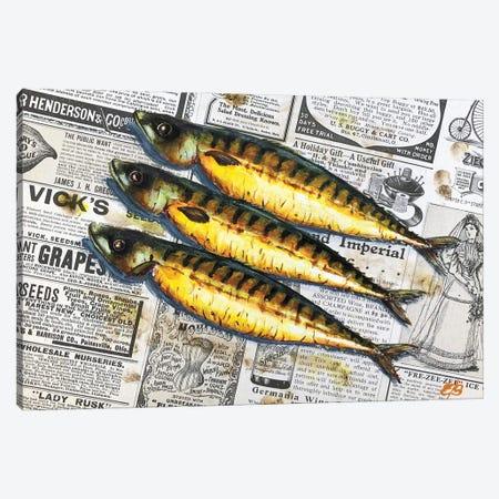 Holy Mackerel! It'S A Fish Day Today III Canvas Print #LSV59} by Lena Smirnova Canvas Wall Art