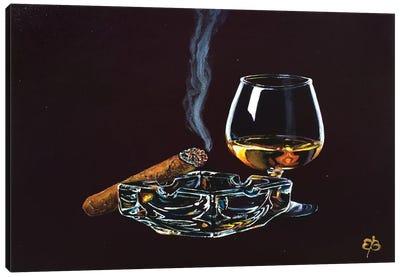 Whiskey And Cigar II Canvas Art Print