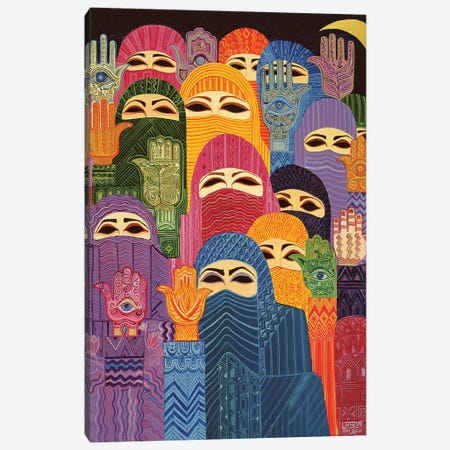 The Hands Of Fatima, 1989 Canvas Print #LSW13} by Laila Shawa Canvas Art Print