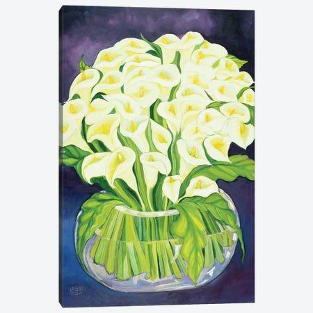 Calla Lilies, 1989 Canvas Print #LSW2} by Laila Shawa Canvas Wall Art