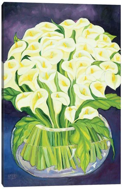 Calla Lilies, 1989 Canvas Art Print