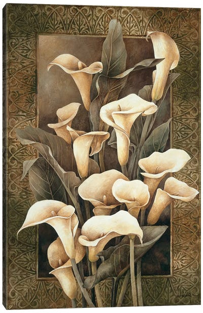 Golden Calla Lilies Canvas Art Print