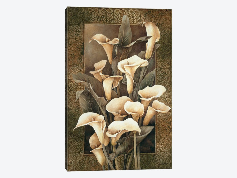 Golden Calla Lilies by Linda Thompson 1-piece Canvas Print
