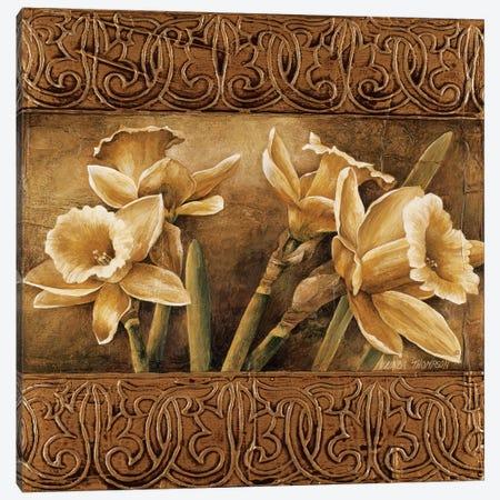 Golden Daffodils I 3-Piece Canvas #LTH16} by Linda Thompson Canvas Art