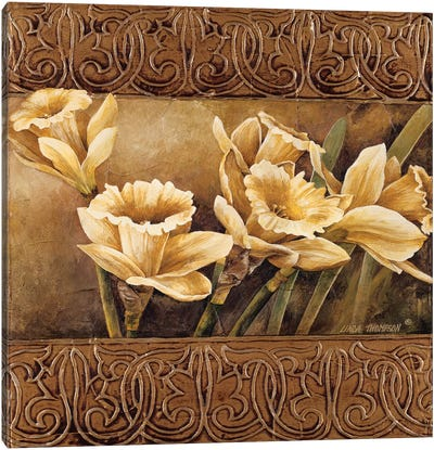 Golden Daffodils II Canvas Art Print