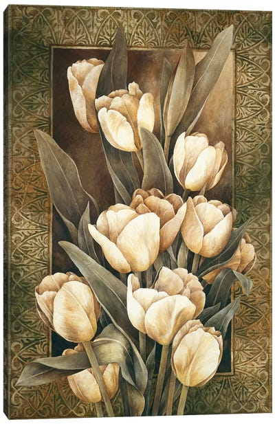 Golden Tulips Canvas Art Print